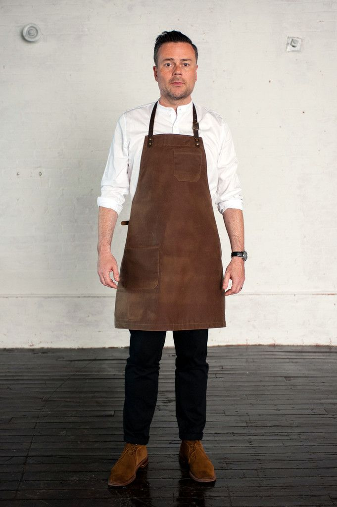Bond Street Apron, Brown Waxed Canvas