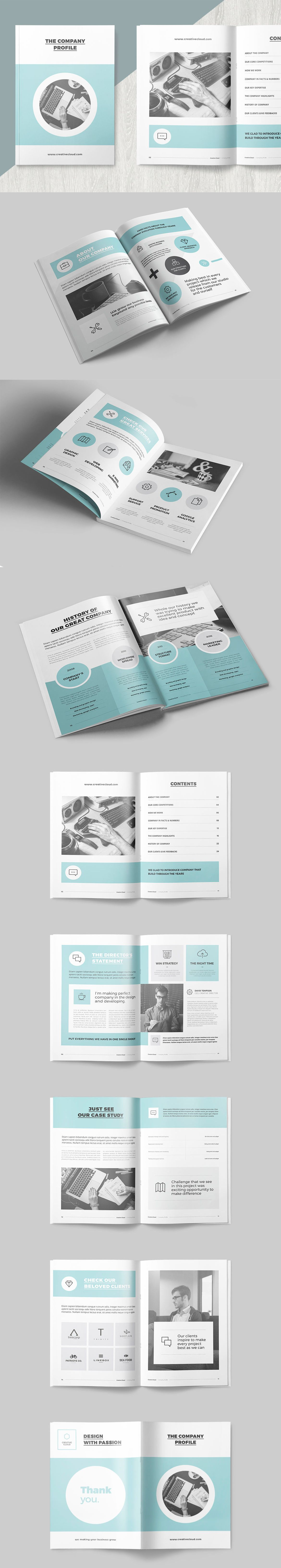 Clean and Professional Company Profile Template InDesign INDD - 16 ...