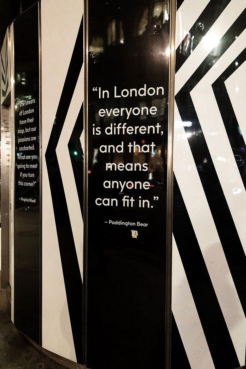 Paddington Bear Quote - London Travel Photos