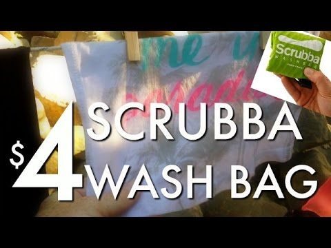 Diy Scrubba Wash Bag For 4 Do Your Own Laundry Anywhere Wash Bags Laundry Wash Bags Travel Diy