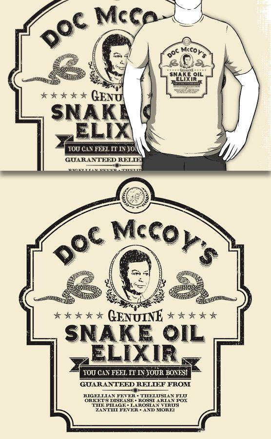 Doc McCoy's Genuine Snake Oil Elixir (Redbubble) by armageddon.deviantart.com