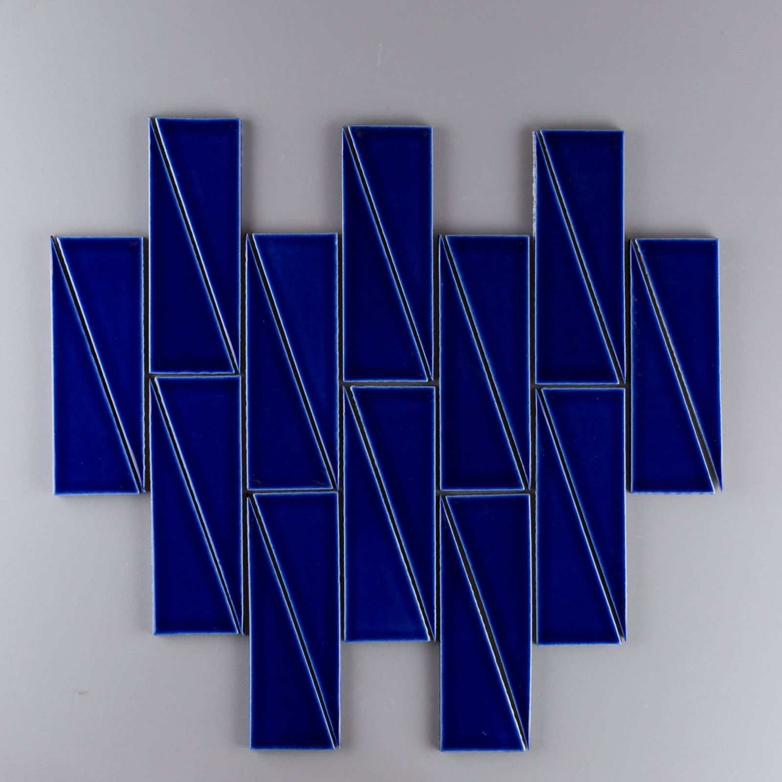 Scalene Triangles in Azul in a vertical offset pattern. | Triangle ...