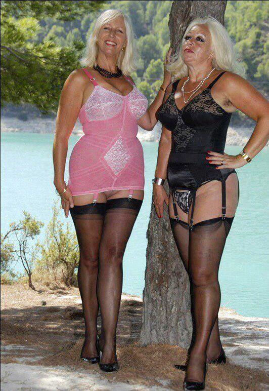 Grans in lingerie