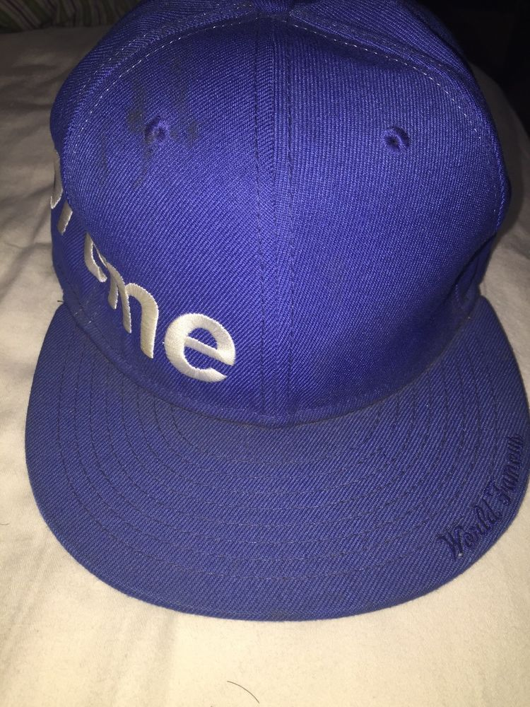 1eb06869e06 eBay  Sponsored Supreme Side Logo New Era Fitted Cap Sz 7 1 2 ...