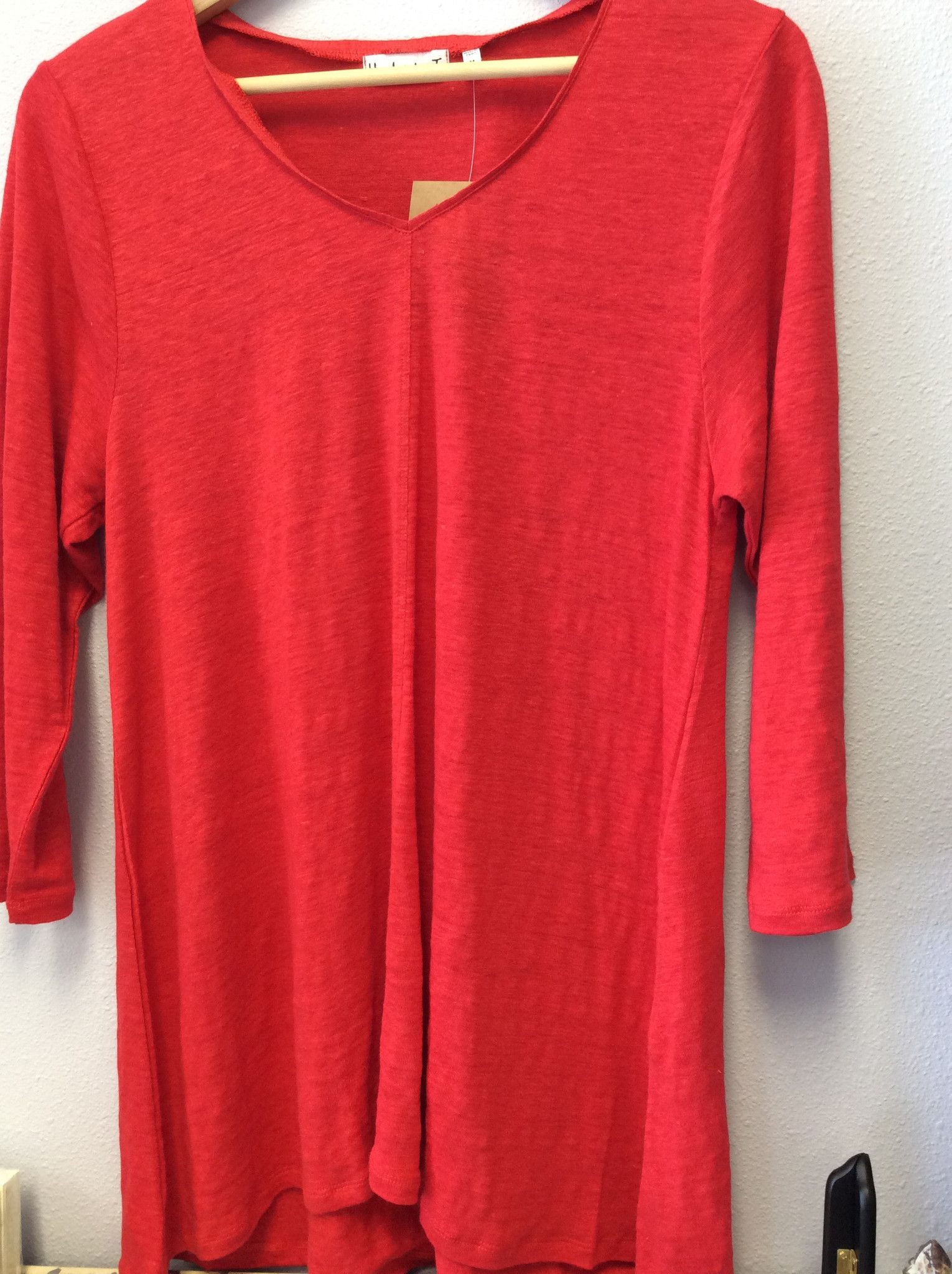 Linen Knit V-neck Tunic Pullover by Habitat Clothes to Live In