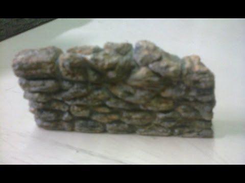 3 Muros de Piedra para Maquetas - YouTube Navidad * Pesebre