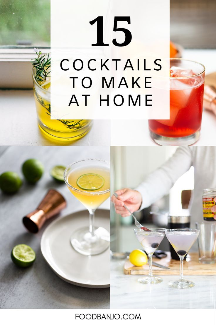 15 cocktails for happy hour at home in 2020 with images