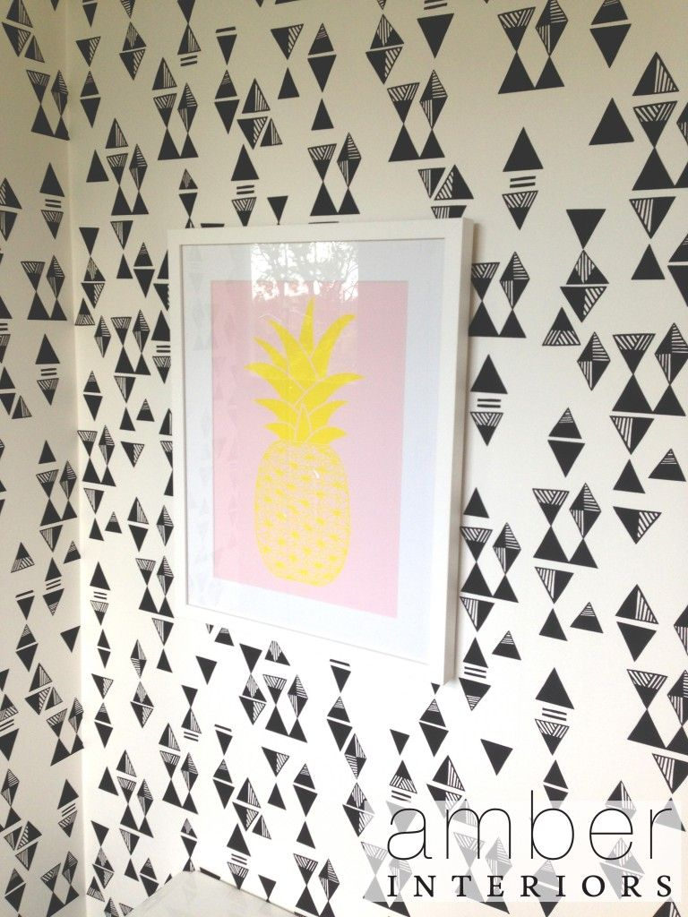 Stop with this wallpaper. It's so cool. (Amber Interiors)