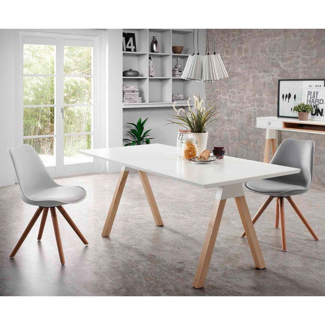 Comedor estilo nordico stick sillas cocina pinterest for Mesa comedor estilo nordico