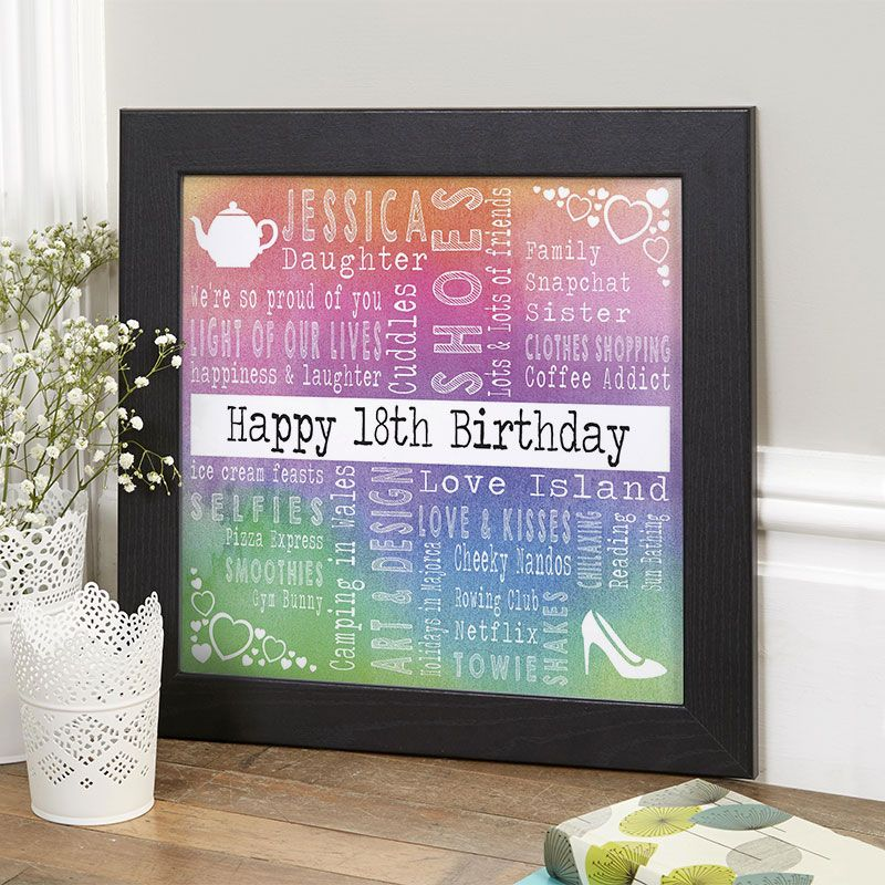 18th Birthday Gift for Girls of Favourite Things With