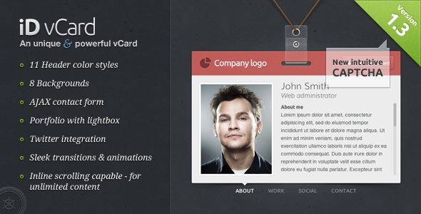 Id Vcard  Unique Premium Vcard Template HttpThemeforestNet