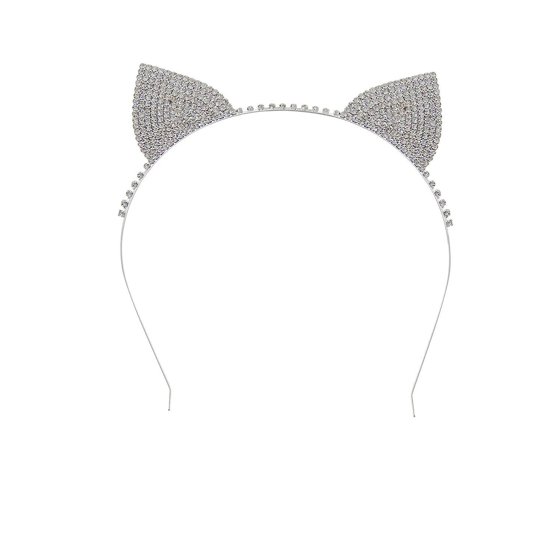 Women's Halloween Costume Rhinestone Cat Ears