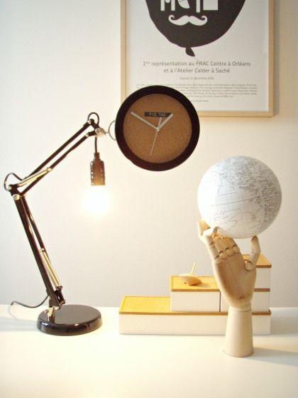 diy adjustable desk clock