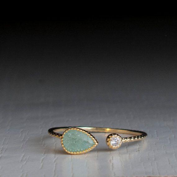 This lovely little zircon ring.