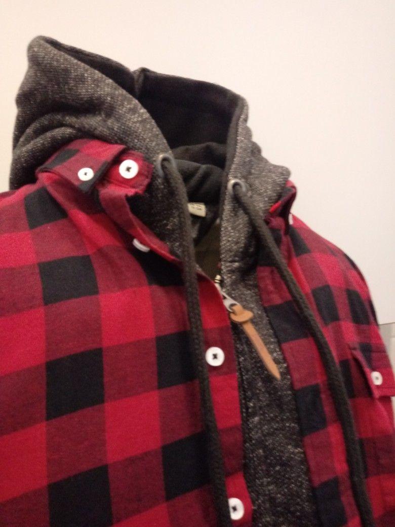 Rood Zwart Overhemd.D555 Overhemd Lawton Rood Zwart Rood Zwart Grof Geblokt Overhemd Met