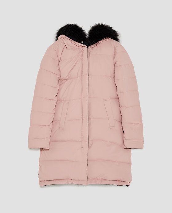b09e5bff REVERSIBLE PUFFER COAT from Zara | Perfect Blush Tones | Winter ...