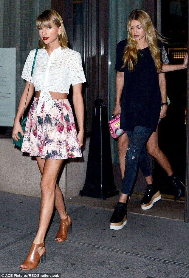 8397ab66 Friends forever: Gigi Hadid (right) and Taylor Swift (left) are reportedly  helping each other through their recent break-ups