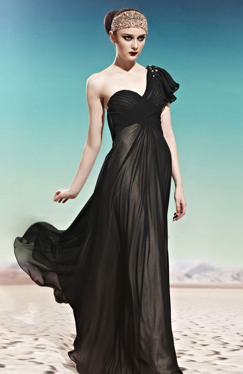 I love black and this dress projects the black in its best way! The ...