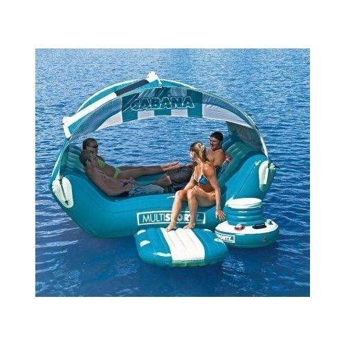 Party Island Beach: Inflatable Party Raft Shade Boat River Lake Rafting Beach