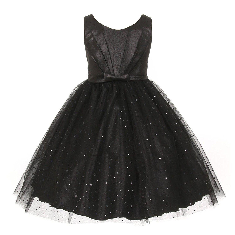 Amazon kids dream little girls black bodice bow sparkle tulle