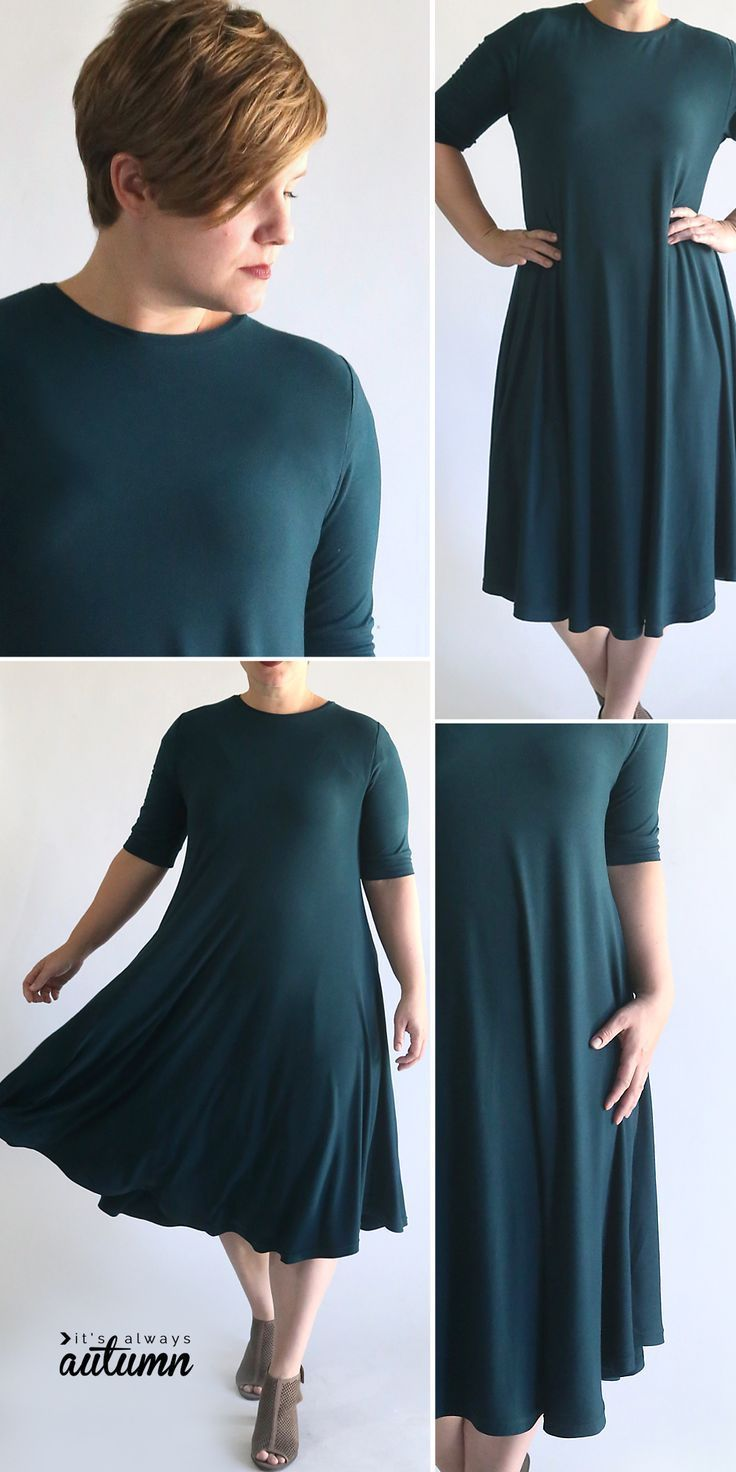 Swing dress pattern + easy sewing tutorial #sewingprojects