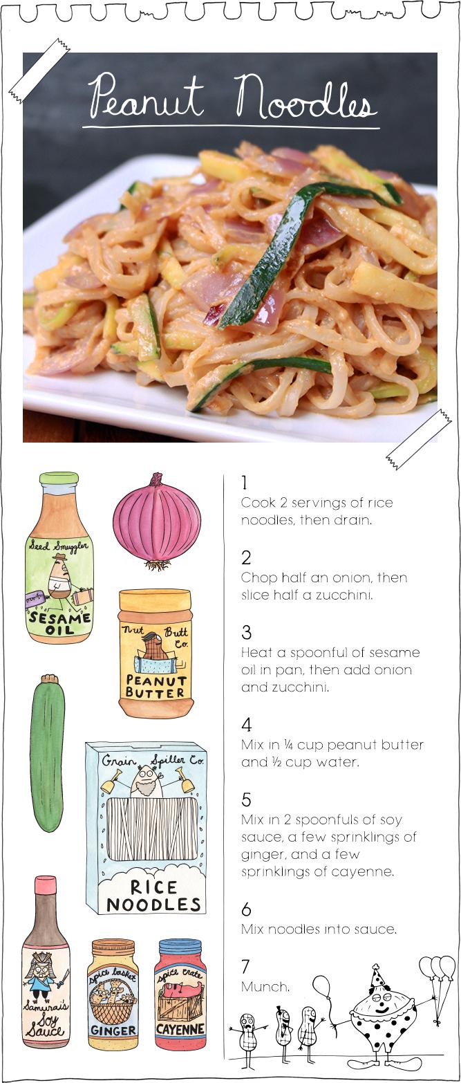 The Vegan Stoner's Peanut Noodles