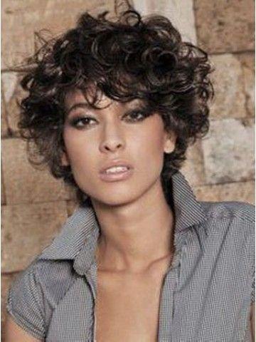 Curly Short Women S Hair Wig Black Hair In 2019 Curly Hair