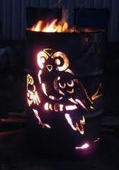 44 gallon drum art   Barrel fire pit, 55 gallon drum