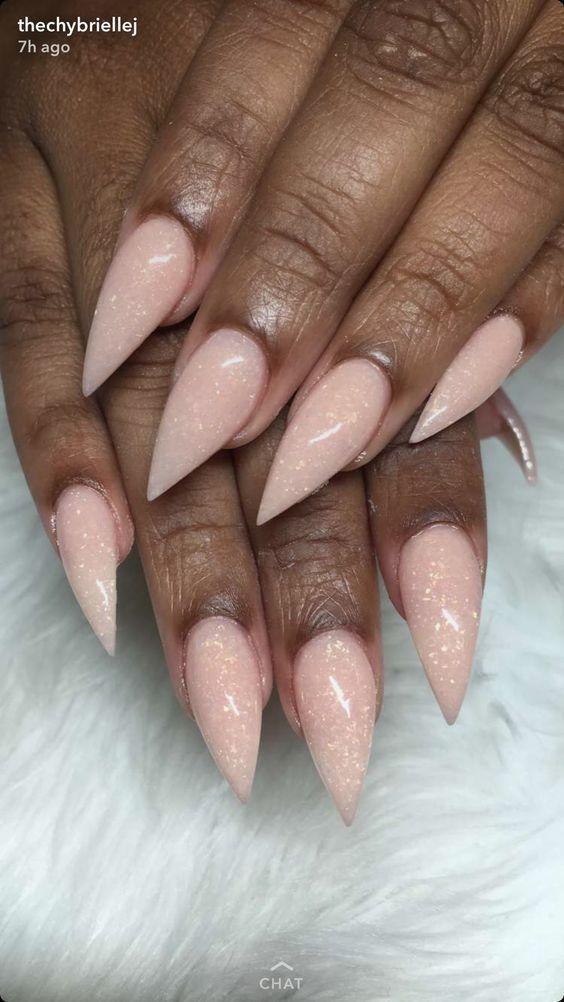 45 Nails Color For Dark Skin | Pinterest | Peach acrylic nails ...