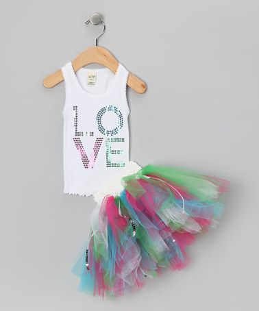 Sequin Tank & Green Tutu - Infant, Toddler & Girls by Brookie Jos on #zulily today!