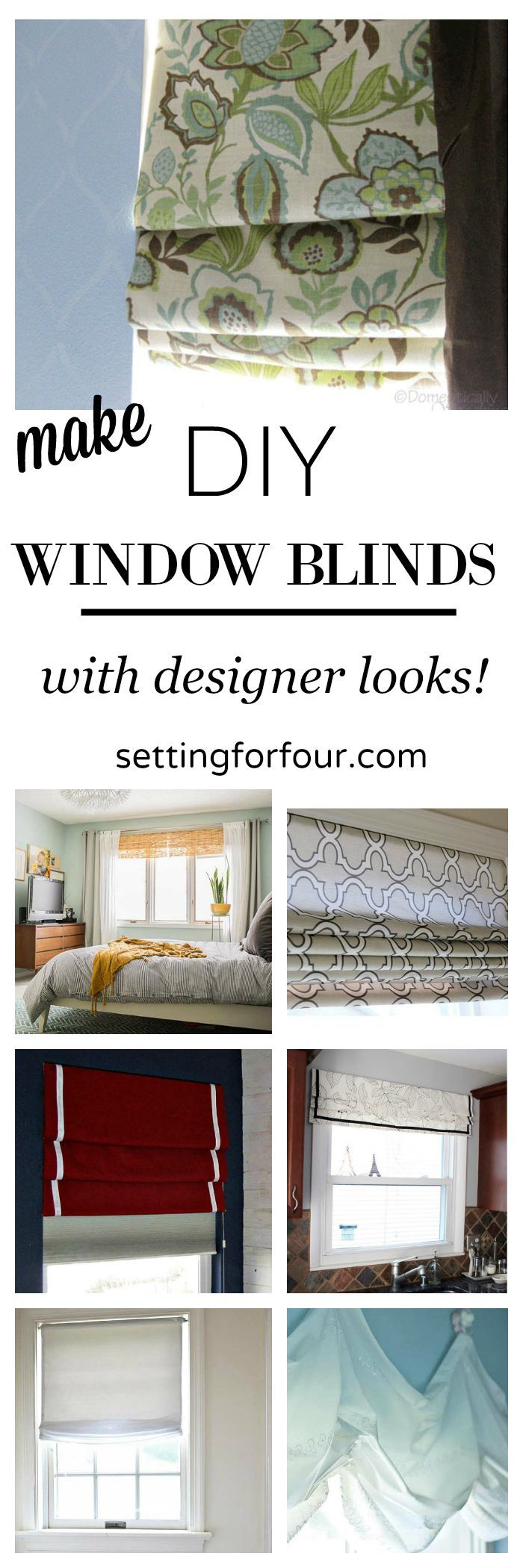 Make gorgeous diy window blinds bloggers best diy ideas see 7 beautiful diy window blinds to make yourself they are the ultimate finishing touch to boring bare windows and will add color and pattern to a room solutioingenieria Image collections