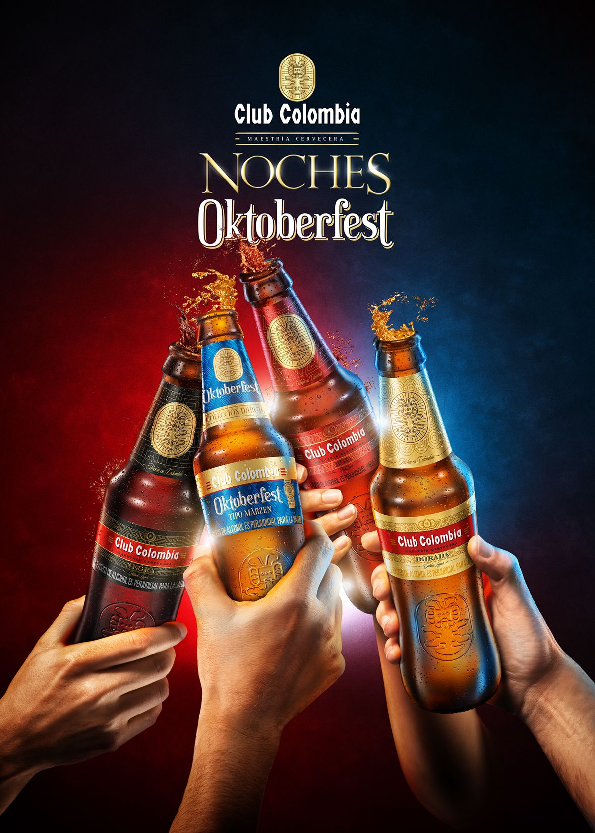 Noche On Behance Beer Advertising Beer Design Beer Poster