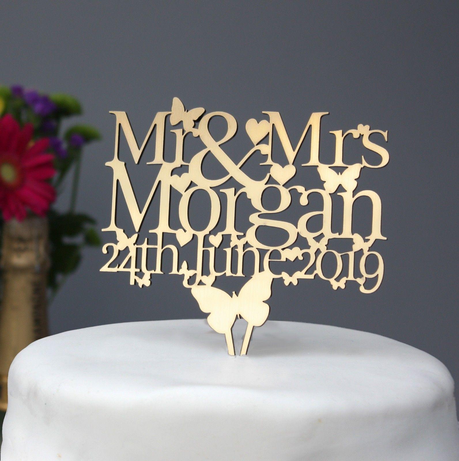 Weddinganniversary cake topper decoration personalised with name