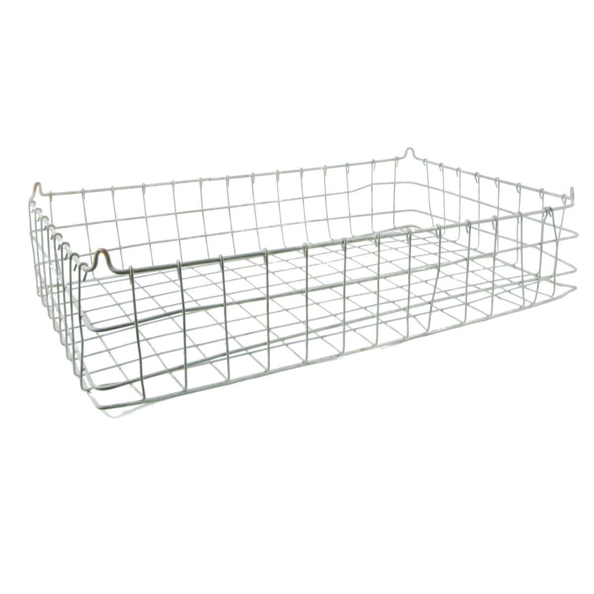 Large Galvanised Vintage Wire Basket Tray