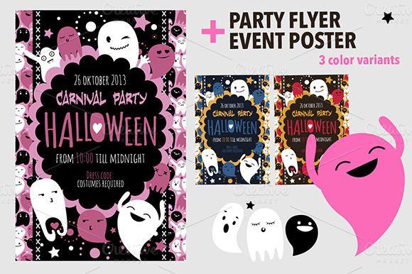Halloween Flyer Poster By Darish On Creativemarket Flyer Ideas
