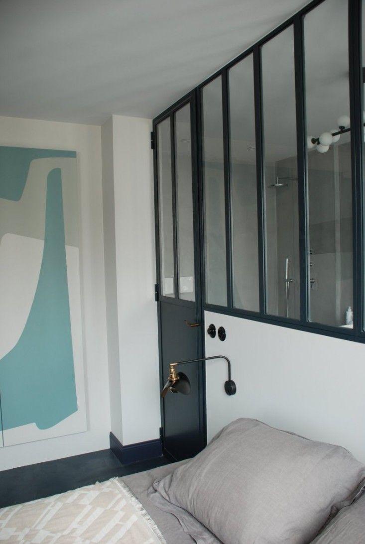 Loft bedroom windows  A Parisian Colorist Works Her Magic  Bathrooms  Pinterest  Lofts