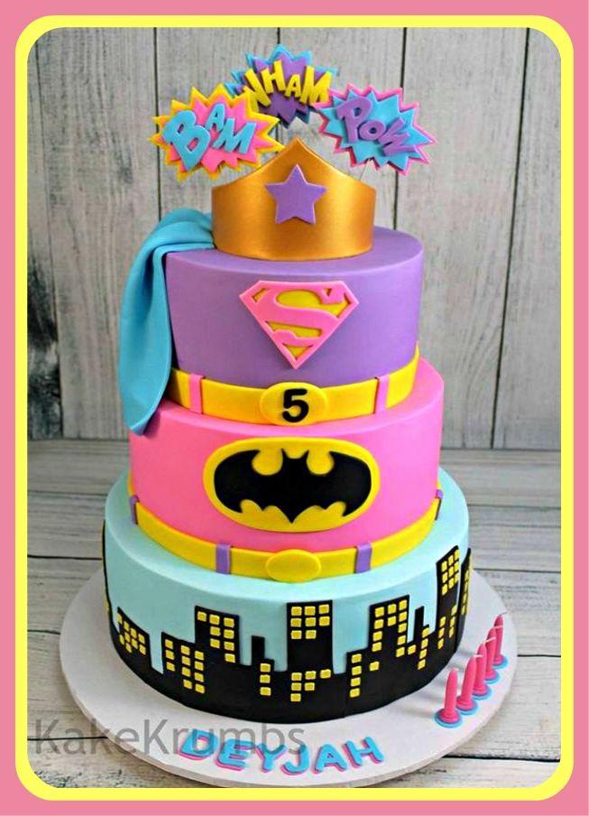 Pin De Carolina Le 243 N En Girl Super Hero Party Tortas