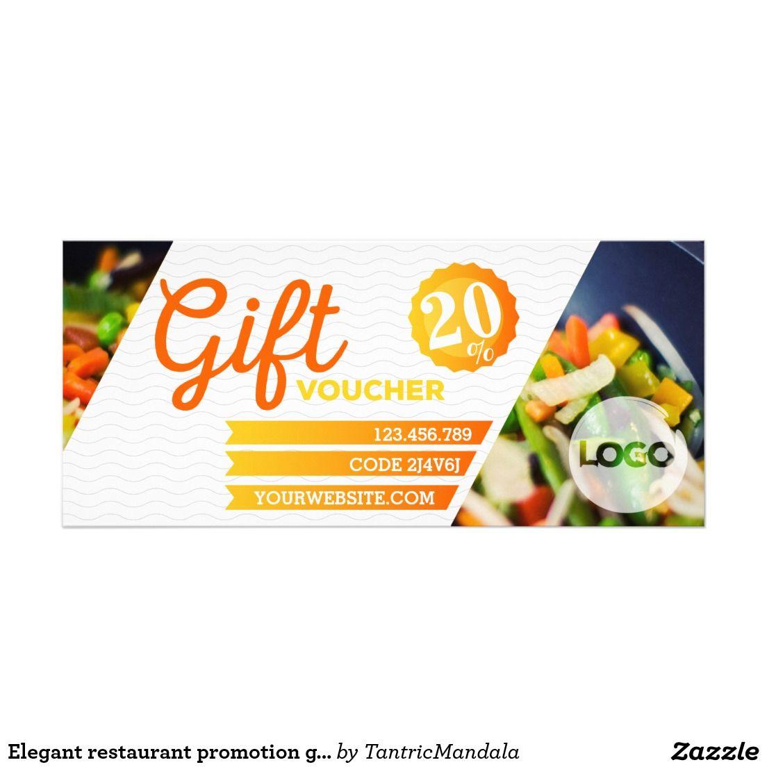 Elegant Restaurant Promotion Gift Voucher Template Zazzle Com