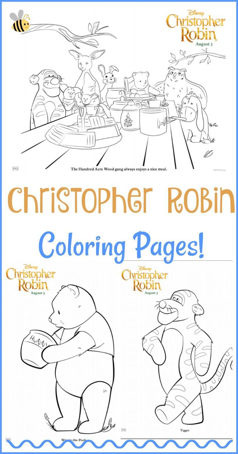 Christopher Robin Coloring Pages #ChristopherRobin #freeprintable ...