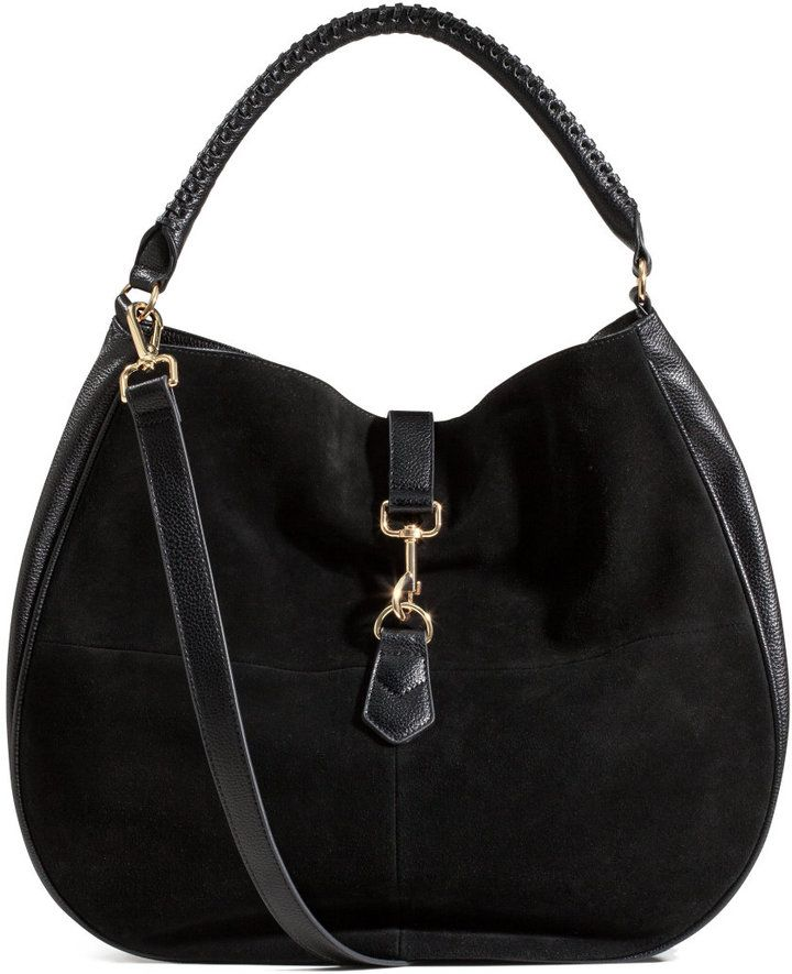H&M Hobo Bag with Suede Details $34.99