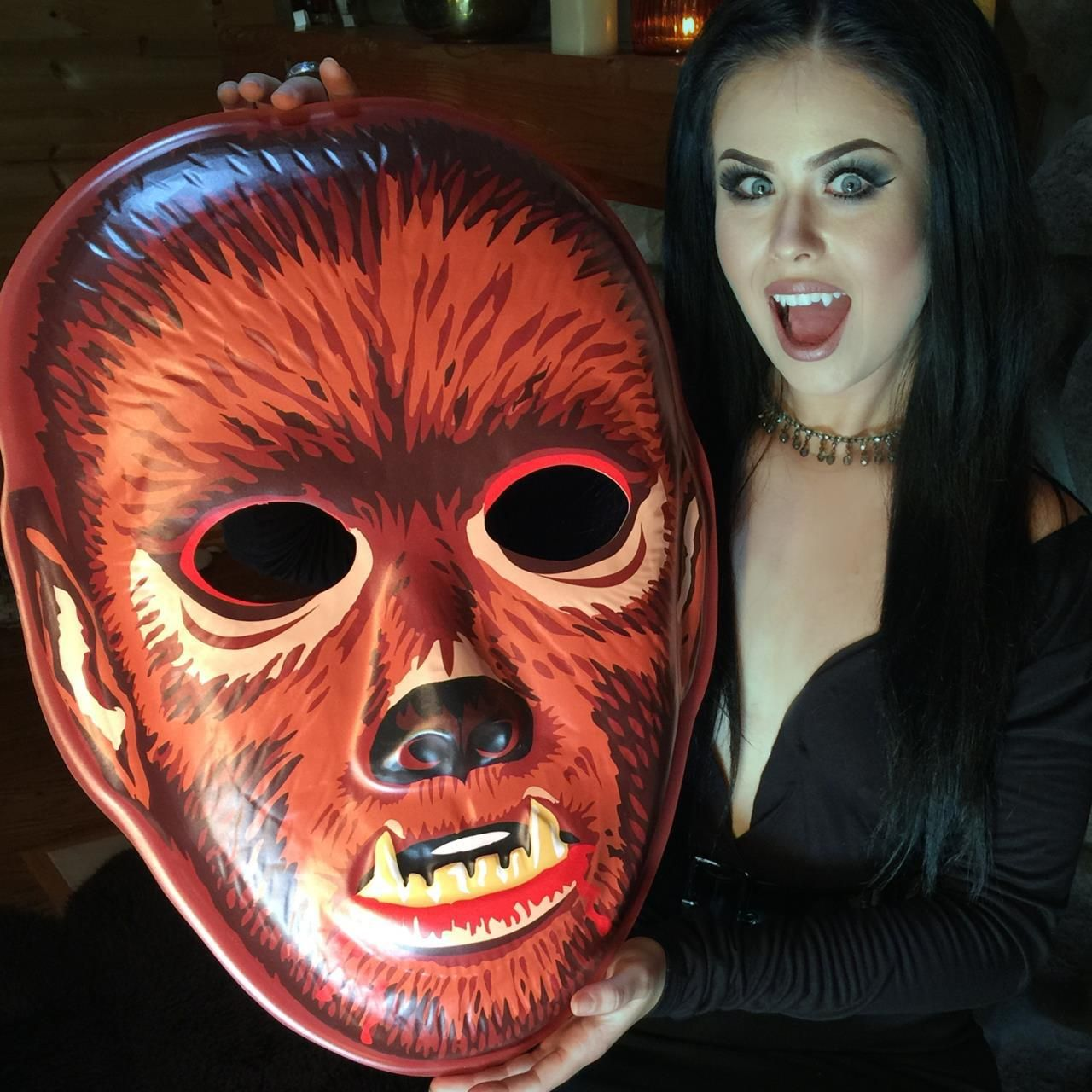 Giant Vintage inspired mask art :: Need more walls :: VAC-TASTIC PLASTIC :: Click thru to see them all.