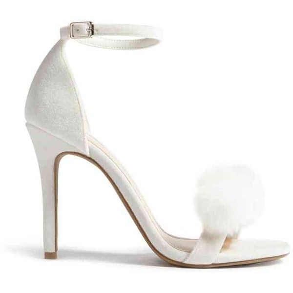 ede55cea061 Forever 21 Faux Fur Velvet Strappy Heels White ( 20) ❤ liked on Polyvore  featuring shoes