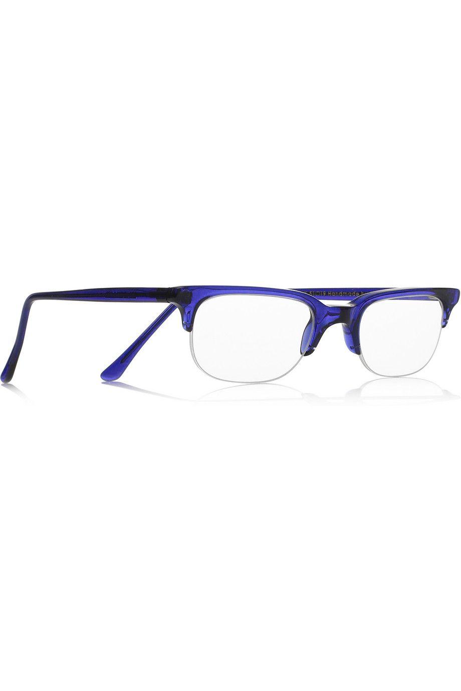 Cutler and Gross | D-frame acetate reading glasses | NET-A-PORTER ...