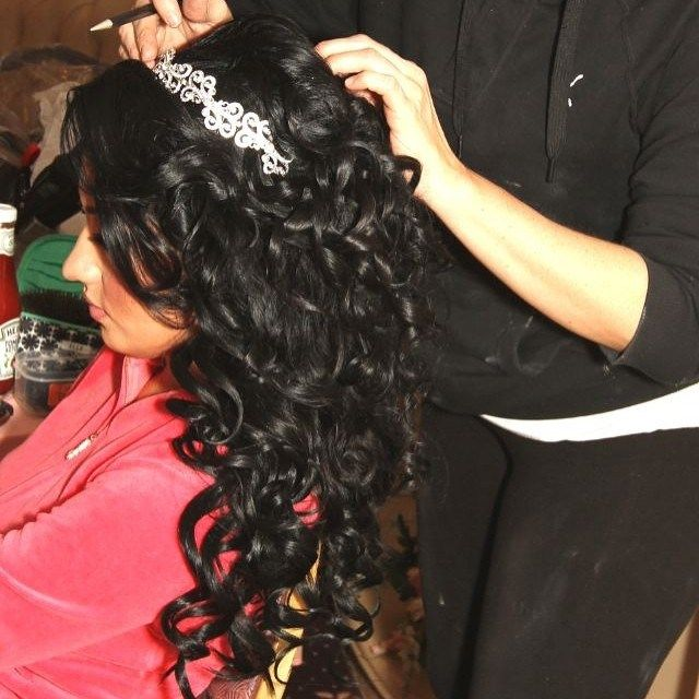 Quinceanera Hairstyles On The Side : Elegant quinceanera hairdo : quinceanera hairstyles
