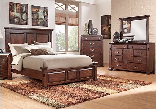 clairfield tobacco 5 pc king panel bedroom new house king size rh pinterest com