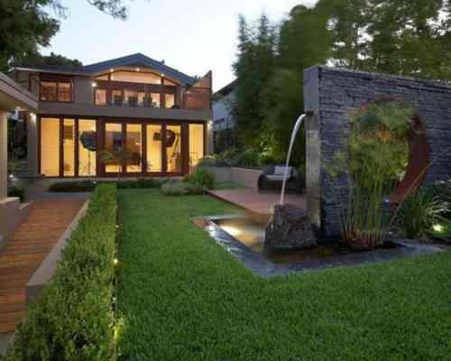 décoration d'espace extérieur moderne