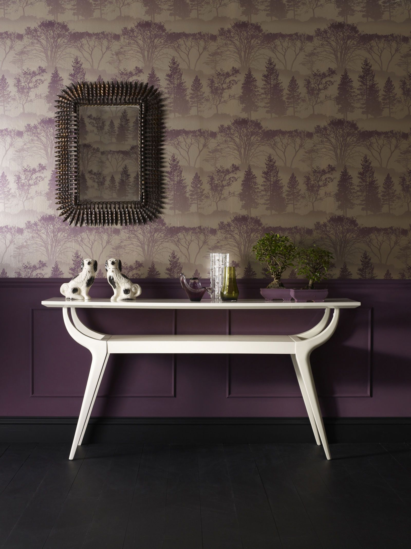 Stylish purple wallpapers for your home Brown wallpaper