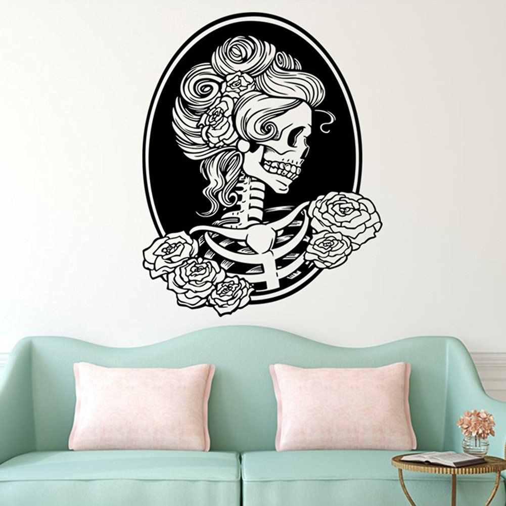 Bestwoohome Skull Stickers Window Decal for Car Halloween Party (Style 1)…
