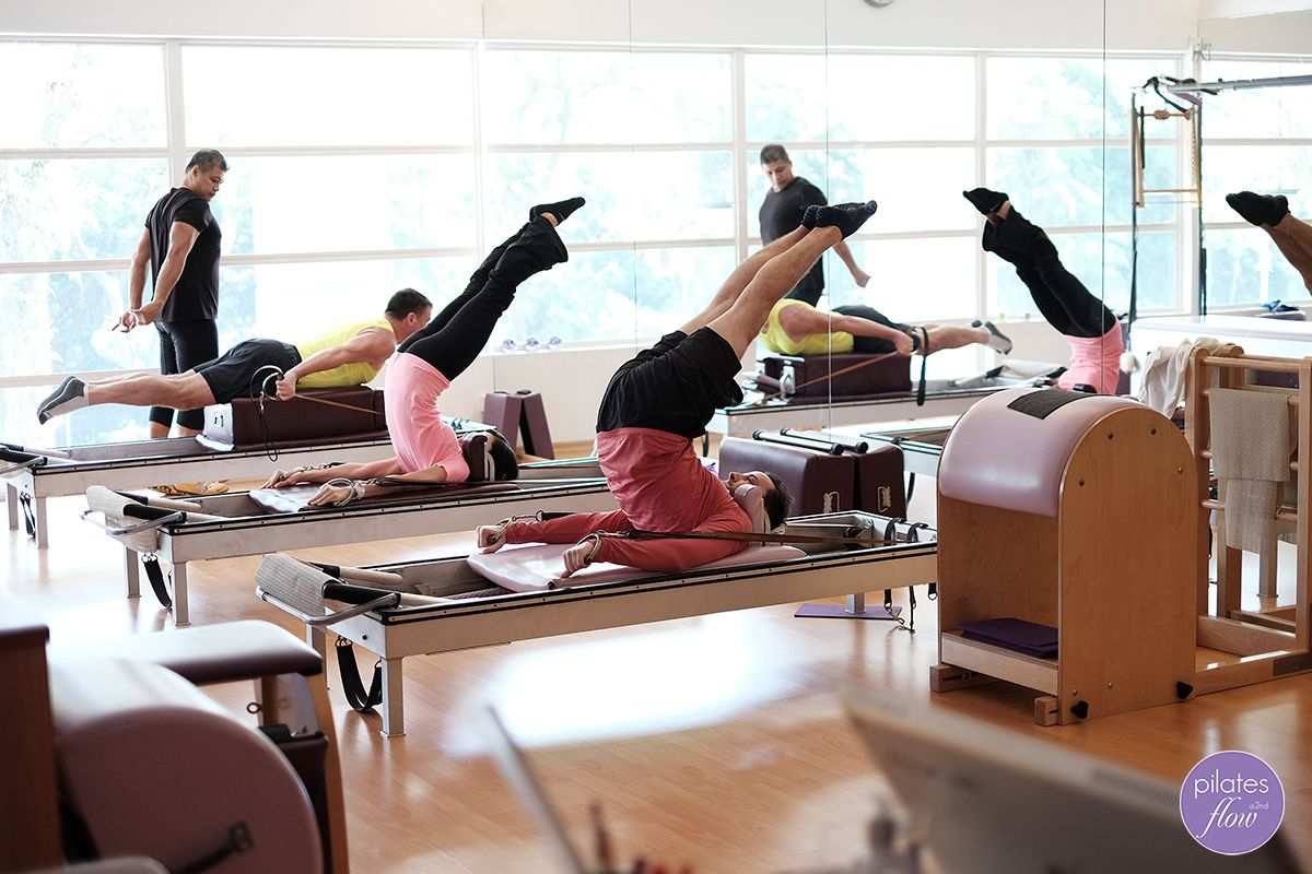 Our Pilates instructors grab a quick workout in between