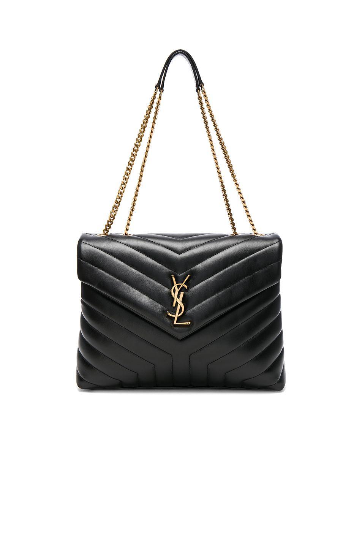 SAINT LAURENT Medium Supple Monogramme Loulou Chain Bag.  saintlaurent  bags   shoulder bags  leather  lining   8a02c32a271e8
